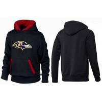 Baltimore Ravens Logo Pullover Hoodie Black & Red