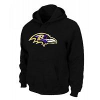Baltimore Ravens Logo Pullover Hoodie Black