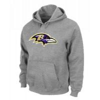Baltimore Ravens Logo Pullover Hoodie Grey