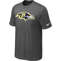 Baltimore Ravens Sideline Legend Authentic Logo Dri-FIT Nike NFL T-Shirt Crow Grey