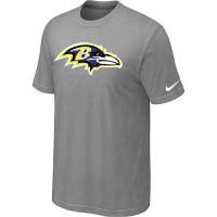 Baltimore Ravens Sideline Legend Authentic Logo Dri-FIT Nike NFL T-Shirt Light Grey