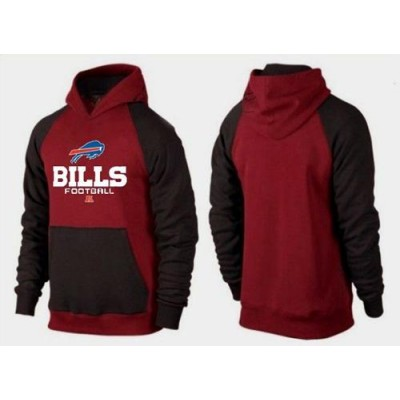 Buffalo Bills Critical Victory Pullover Hoodie Burgundy Red & Black