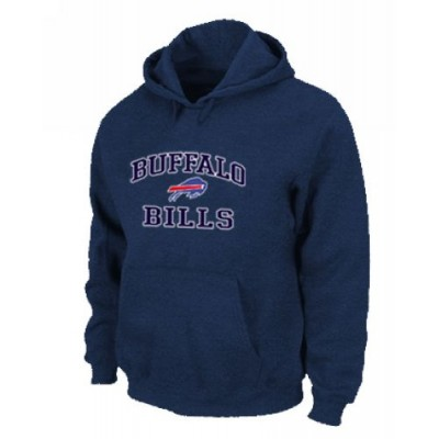 Buffalo Bills Heart & Soul Pullover Hoodie Dark Blue