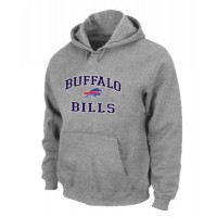 Buffalo Bills Heart & Soul Pullover Hoodie Grey