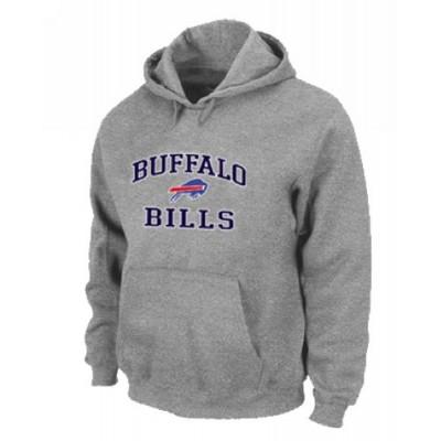 Buffalo Bills Heart & Soul Pullover Hoodie Grey