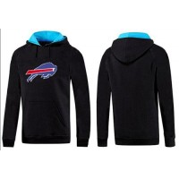 Buffalo Bills Logo Pullover Hoodie Black & Blue