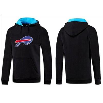 Buffalo Bills Logo Pullover Hoodie Black & Blue