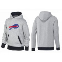 Buffalo Bills Logo Pullover Hoodie Grey & Black