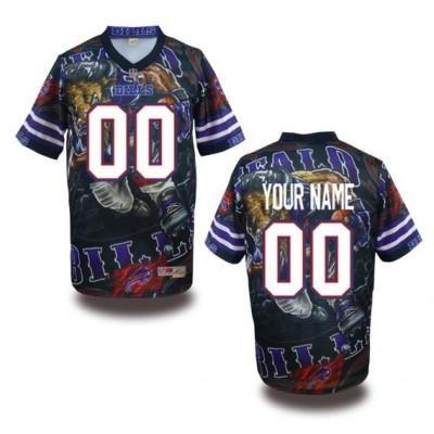 Buffalo Bills NFL Customized Fanatic Version Jersey