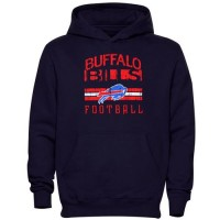 Buffalo Bills Pregame Pullover Hoodie Navy Blue