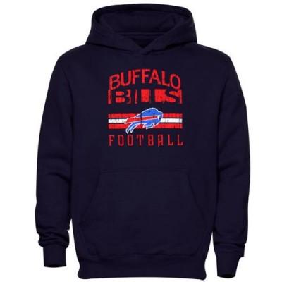 Buffalo Bills Pregame Pullover Hoodie Navy Blue