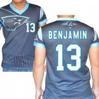 Carolina Panthers #13 Kelvin Benjamin Stretch Name Number Player Personalized Black Mens Adults NFL T-Shirts Tee Shirts