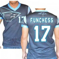 Carolina Panthers #17 Devin Funchess Stretch Name Number Player Personalized Black Mens Adults NFL T-Shirts Tee Shirts
