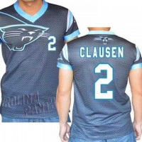 Carolina Panthers #2 Jimmy Clausen Stretch Name Number Player Personalized Black Mens Adults NFL T-Shirts Tee Shirts