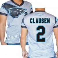 Carolina Panthers #2 Jimmy Clausen Stretch Name Number Player Personalized White Mens Adults NFL T-Shirts Tee Shirts