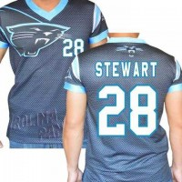Carolina Panthers #28 Jonathan Stewart Stretch Name Number Player Personalized Black Mens Adults NFL T-Shirts Tee Shirts