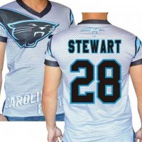 Carolina Panthers #28 Jonathan Stewart Stretch Name Number Player Personalized White Mens Adults NFL T-Shirts Tee Shirts