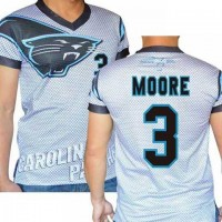 Carolina Panthers #3 Derek Anderson Stretch Name Number Player Personalized White Mens Adults NFL T-Shirts Tee Shirts