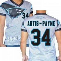 Carolina Panthers #34 Cameron Artis-Payne Stretch Name Number Player Personalized White Mens Adults NFL T-Shirts Tee Shirts