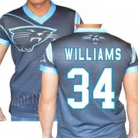 Carolina Panthers #34 DeAngelo Williams Stretch Name Number Player Personalized Black Mens Adults NFL T-Shirts Tee Shirts