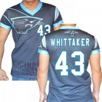 Carolina Panthers #43 Fozzy Whittaker Stretch Name Number Player Personalized Black Mens Adults NFL T-Shirts Tee Shirts