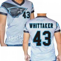 Carolina Panthers #43 Fozzy Whittaker Stretch Name Number Player Personalized White Mens Adults NFL T-Shirts Tee Shirts