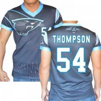 Carolina Panthers #54 Shaq Thompson Stretch Name Number Player Personalized Black Mens Adults NFL T-Shirts Tee Shirts