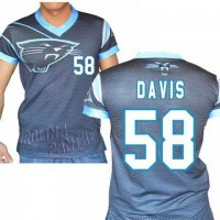Carolina Panthers #58 Thomas Davis Sr Stretch Name Number Player Personalized Black Mens Adults NFL T-Shirts Tee Shirts