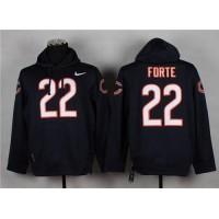 Chicago Bears #22 Matt Forte Navy Blue Pullover Hoodie