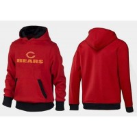 Chicago Bears Authentic Logo Pullover Hoodie Red & Black