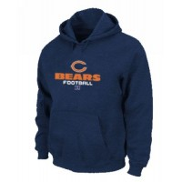 Chicago Bears Critical Victory Pullover Hoodie Dark Blue