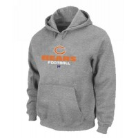 Chicago Bears Critical Victory Pullover Hoodie Grey