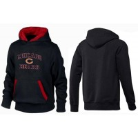 Chicago Bears Heart & Soul Pullover Hoodie Black & Red