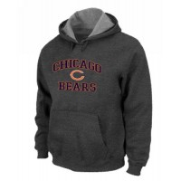 Chicago Bears Heart & Soul Pullover Hoodie Dark Grey