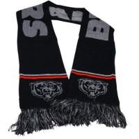 Chicago Bears Ladies Metallic Thread Scarf Black