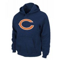 Chicago Bears Logo Pullover Hoodie Dark Blue