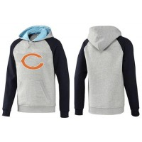 Chicago Bears Logo Pullover Hoodie Grey & Blue