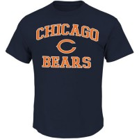 Chicago Bears Majestic Big and Tall Heart & Soul III T-Shirt Navy Blue