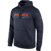 Chicago Bears Nike KO Speed Wordmark Performance Hoodie Navy Blue