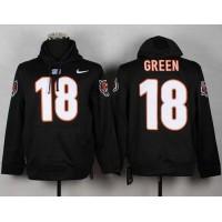 Cincinnati Bengals #18 A.J. Green NFL Pullover Hoodie Black