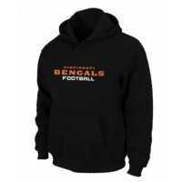 Cincinnati Bengals Authentic Font Pullover Hoodie Black