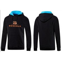 Cincinnati Bengals Authentic Logo Pullover Hoodie Black & Blue