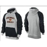 Cincinnati Bengals Heart & Soul Pullover Hoodie Grey & Black