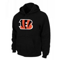 Cincinnati Bengals Logo Pullover Hoodie Black