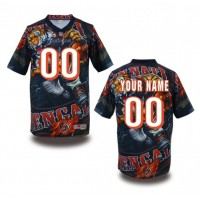 Cincinnati Bengals NFL Customized Fanatic Version Jersey