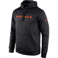 Cincinnati Bengals Nike KO Speed Wordmark Performance Hoodie Black