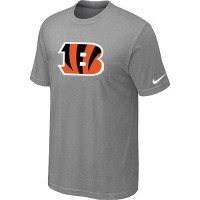 Cincinnati Bengals Sideline Legend Authentic Logo Dri-FIT Nike NFL T-Shirt Light Grey
