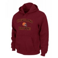 Cleveland Browns Heart & Soul Pullover Hoodie Red