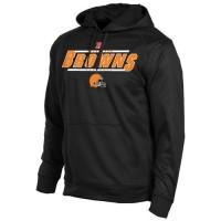 Cleveland Browns Historic Logo Majestic Synthetic Hoodie Sweatshirt Black
