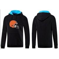 Cleveland Browns Logo Pullover Hoodie Black & Blue